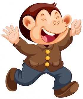 행복 원숭이 만화 캐릭터