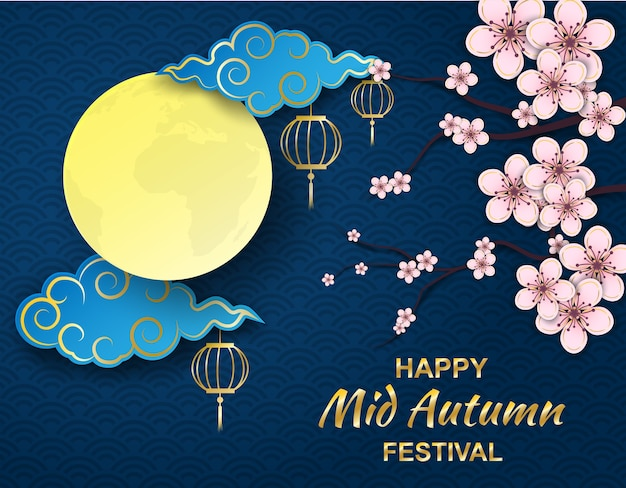 Happy moon cake festival ,chinese mid autumn festival.