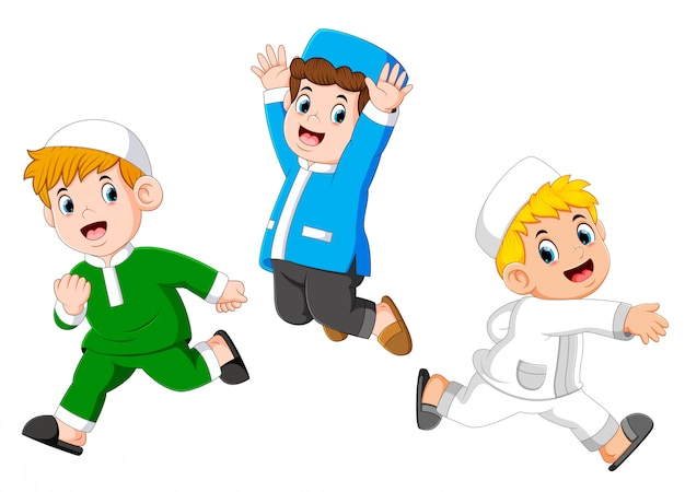Happy moslem kids