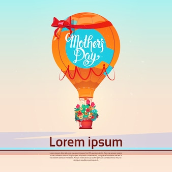 Happy mother day, spring holiday greeting card banner