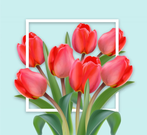 Happy mother day tulip card