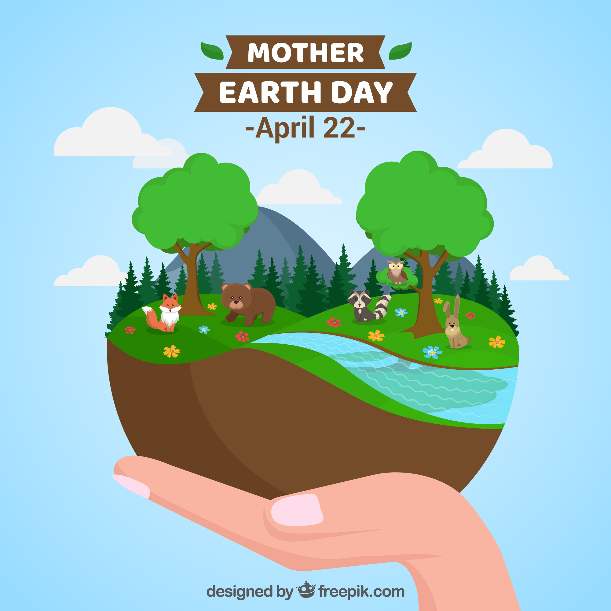 Happy mother earth day background