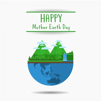 Happy mother earth day banner