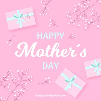 Happy mother's day background with gift box