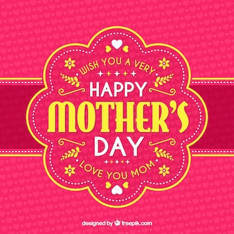 Happy mother's day background with typograhpy