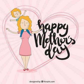 Day background della madre felice
