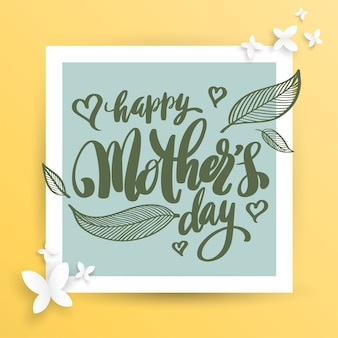 Happy mother's day banner.