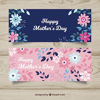 Happy mother's day banners in flat design