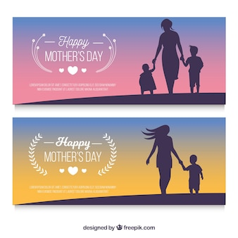 Happy mother's day banners