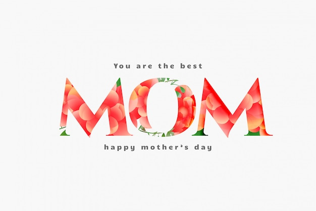 Happy mother's day best mom card design