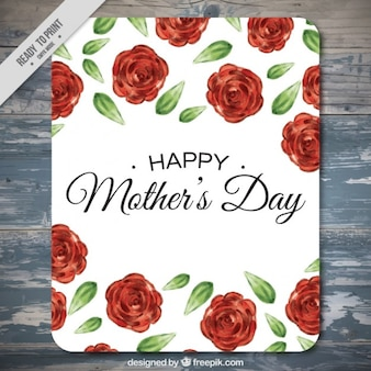Happy mother's day card with roses