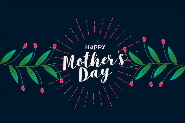 Happy mother's day floral greeting background