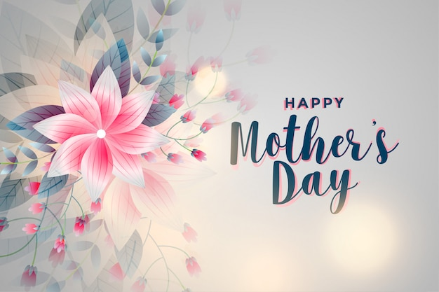 Happy mother's day flower greeting background
