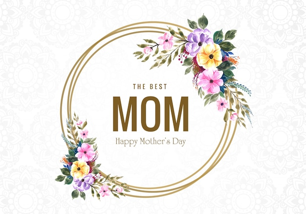 Happy mother's day flower greeting card background