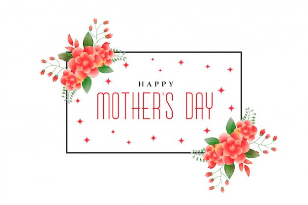 Happy mother's day foliage greeting design