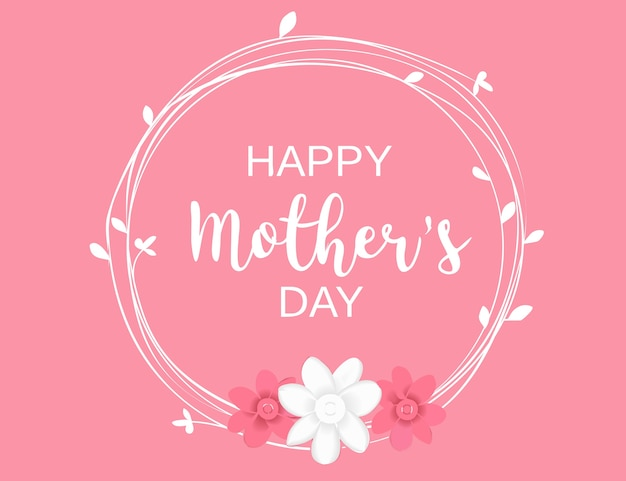 Happy mother's day greeting card celebration vector illustrator