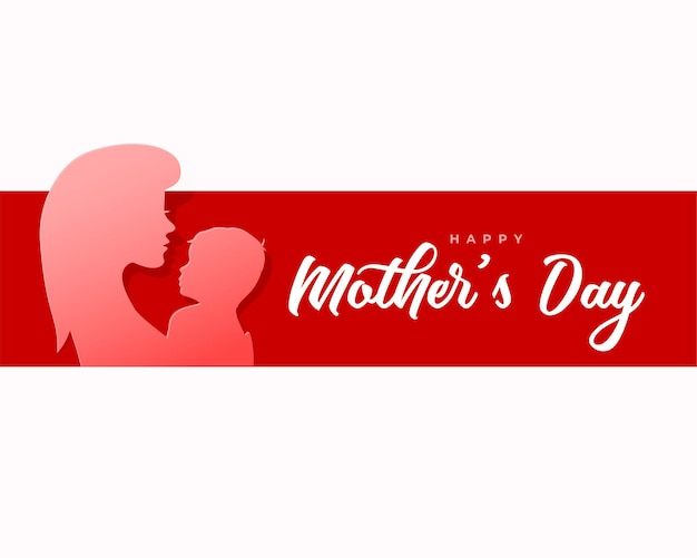 Happy mother's day greeting card in paper style