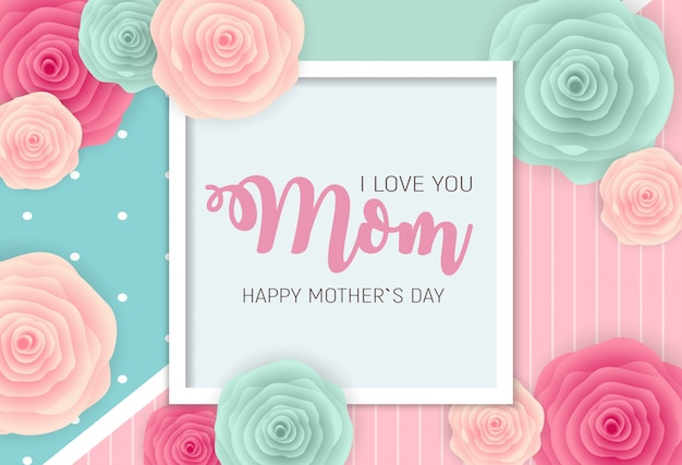 Happy mother s day greeting card