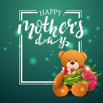 Happy mother's day greeting green card