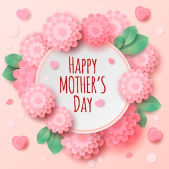 Happy mother's day greeting illustration
