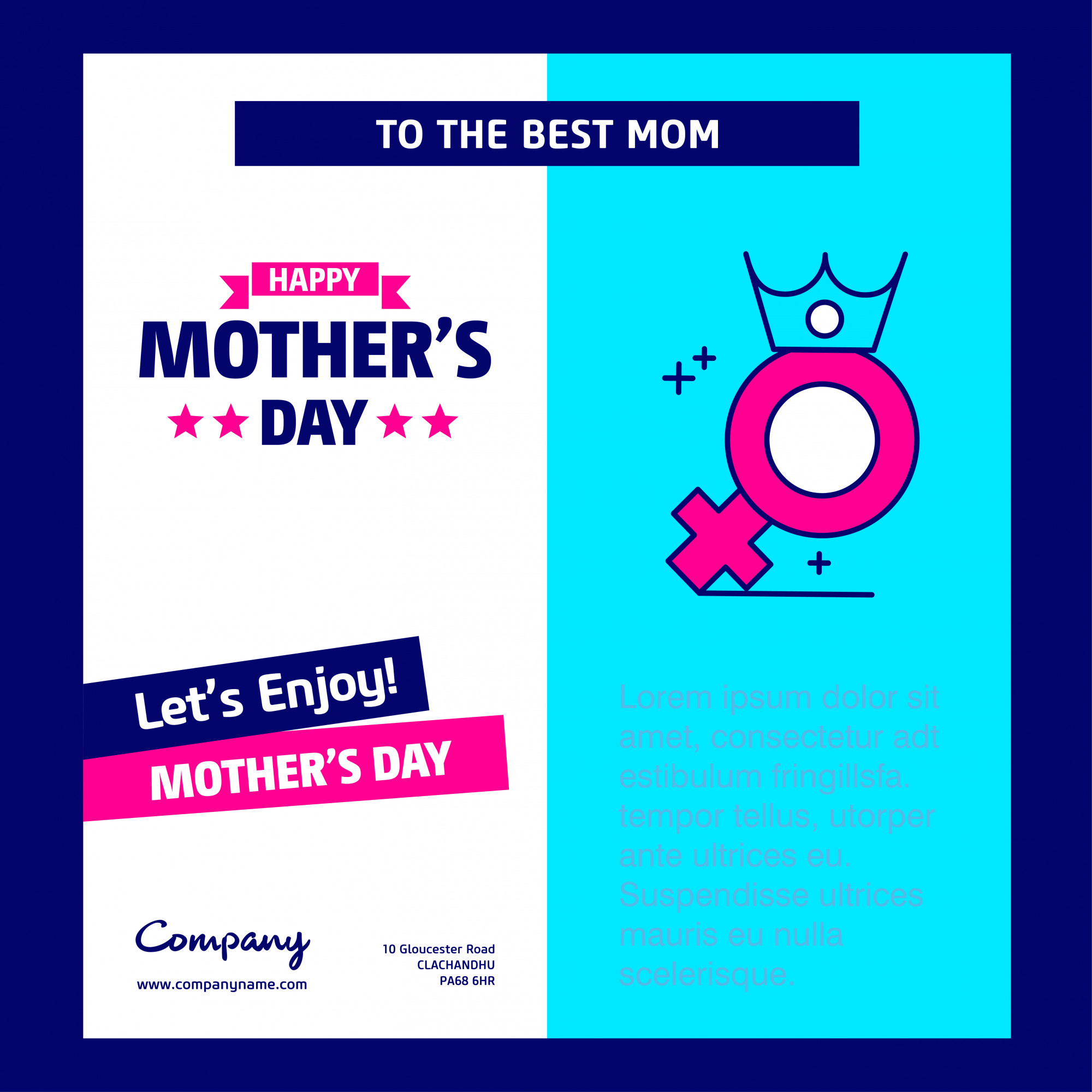 Happy Mother's day greetings card
