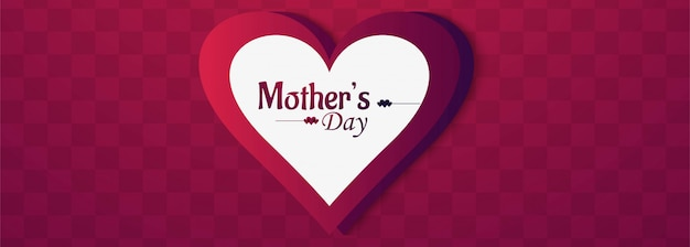 Happy mother's day heart background design