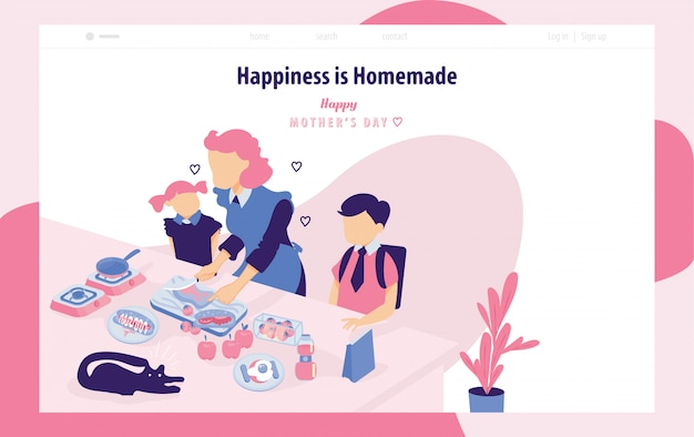 Happy mother's day landing page