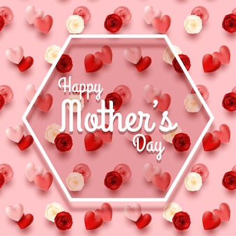 Happy mother's day pink background