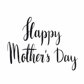 Happy mother s day typography style vector