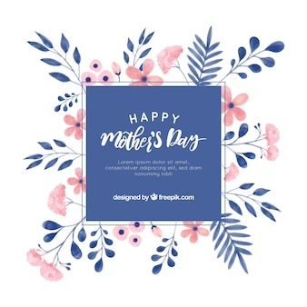 Happy mother's day watercolour background