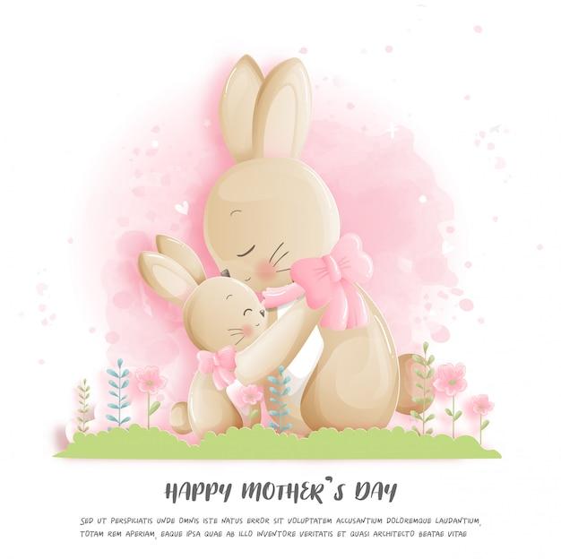 토끼와 함께 해피 어머니의 날입니다.