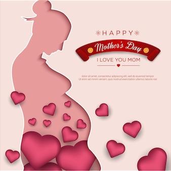 ママのペーパーカットと現実的な愛と幸せな母の日