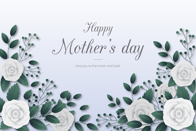 Happy mothers day background with flowers