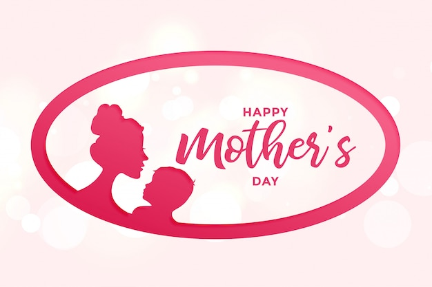 Happy mothers day background with mother and child