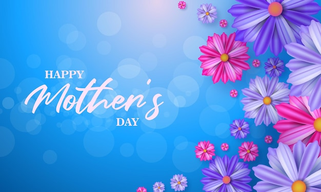 Happy mothers day banner greeting card for social media