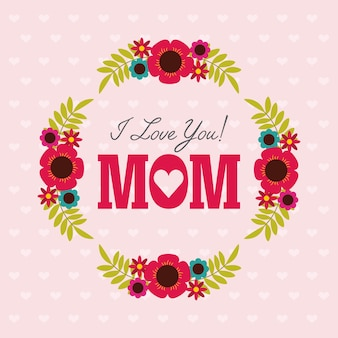 Happy mothers day card design