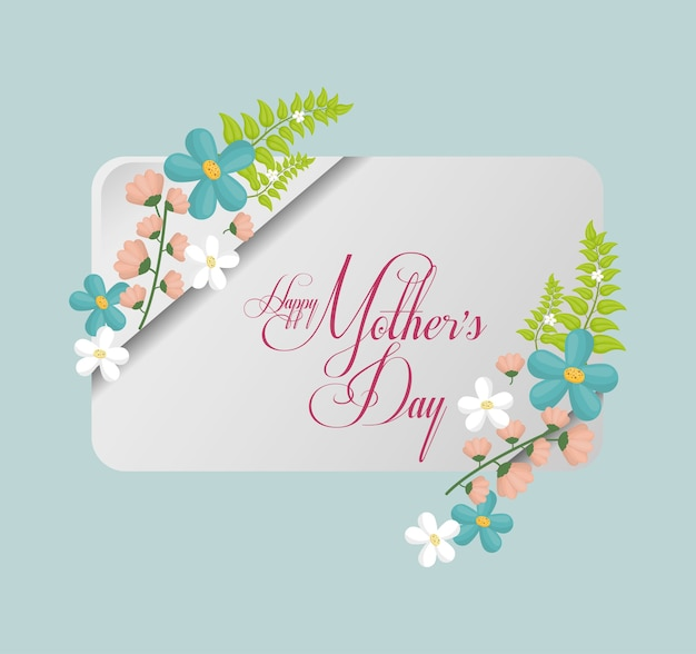 Happy mothers day card greeting delicate