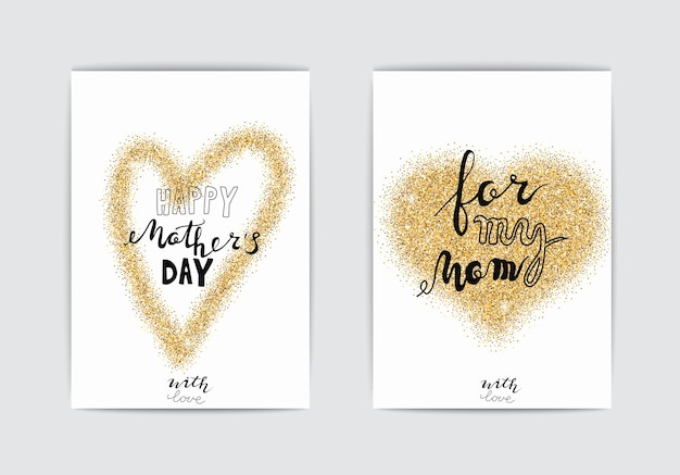 Happy mothers day cards mothers day vector set