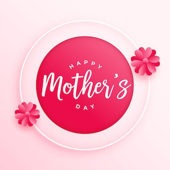 Happy mothers day flower card design
