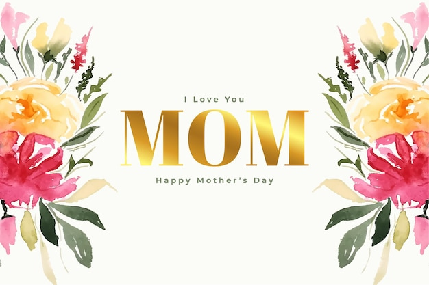 Happy mothers day flower decorative celebration card design