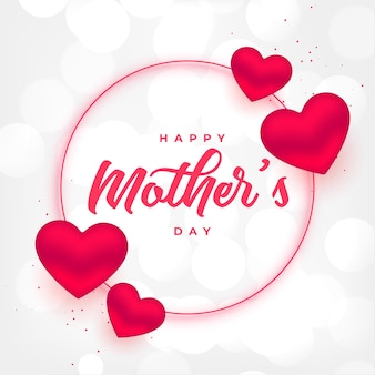 Happy mothers day heart frame background