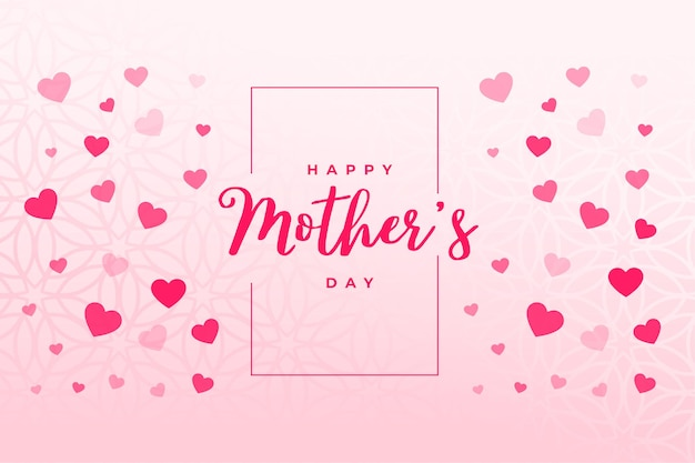 Happy mothers day hearts background