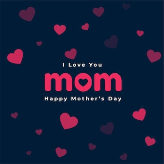 Happy mothers day hearts card design