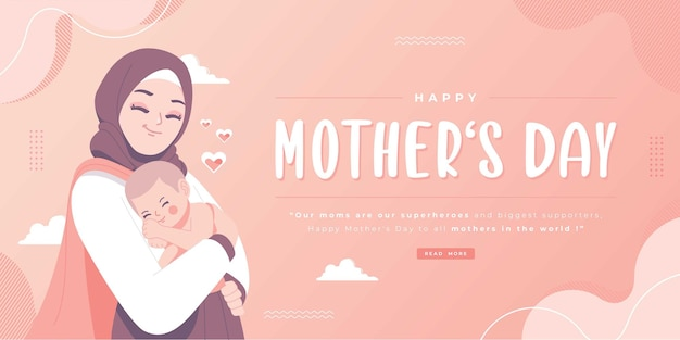 Счастливый день матери исламская концепция баннер