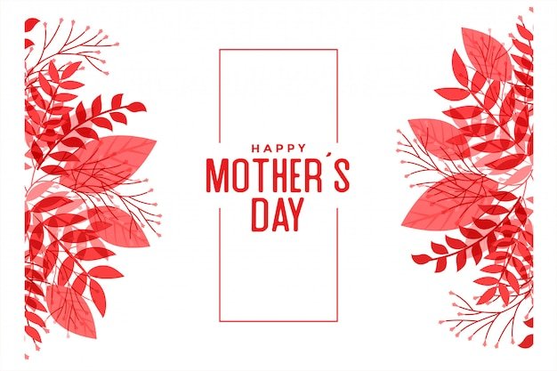 Happy mothers day leaves style background