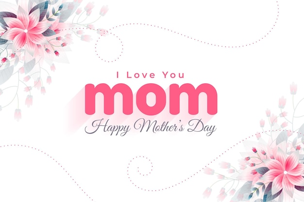 Happy mothers day love greeting background