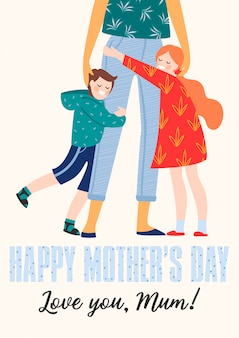 Happy mothers day. vector illustration