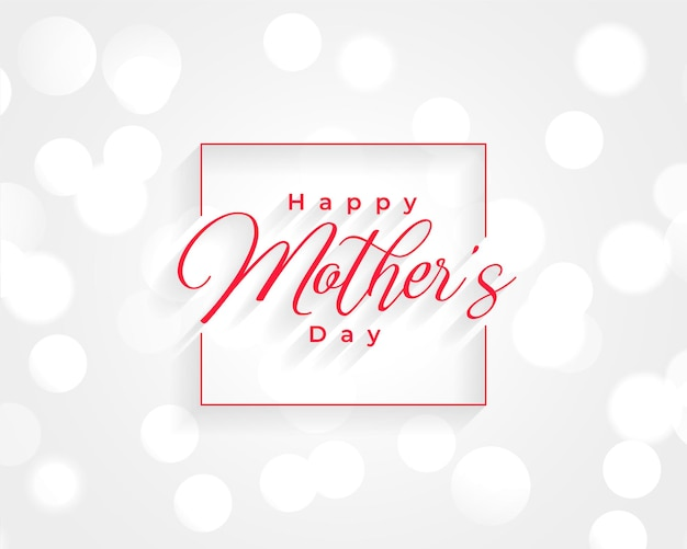 Happy mothers day wishes card design