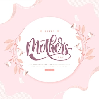Happy mothers day wishes lettering template