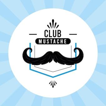 Happy movember emblem